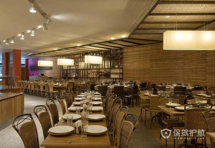 港式茶餐厅原木风装修效果图