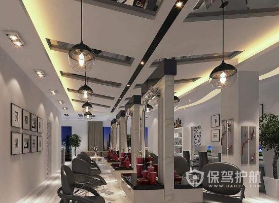 欧式风格理发店吊顶装修效果图