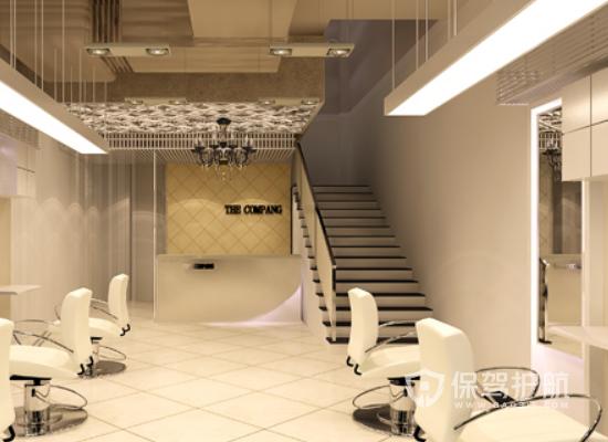简约风格理发店楼梯设计效果图