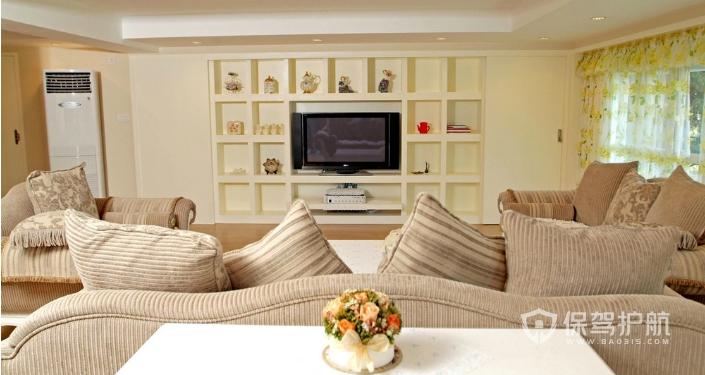 小清新客廳電視墻如何裝修?客廳電視墻裝修注意事項