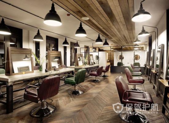 欧式风格理发店灯光设计效果图