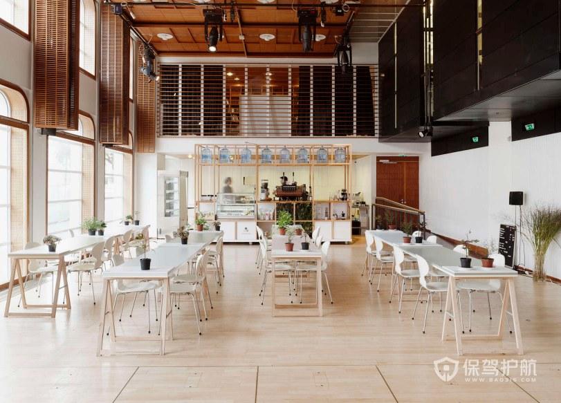 小清新风格办公室就餐区装修效果图