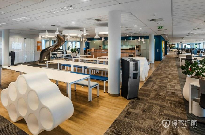 现代简约风格办公大厅装修效果图