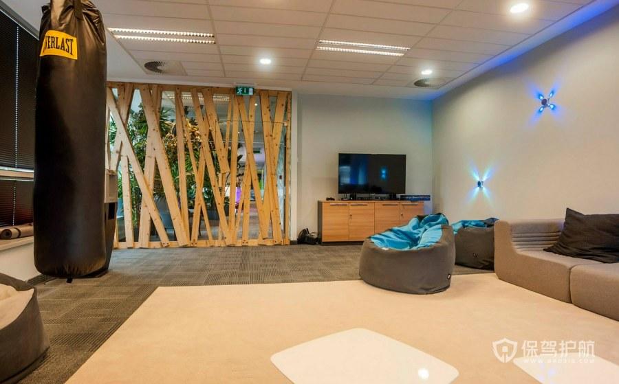 现代简约风格办公休息室装修效果图
