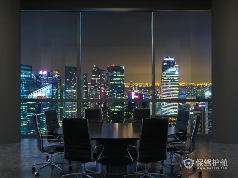 商务型办公会议室装修效果图