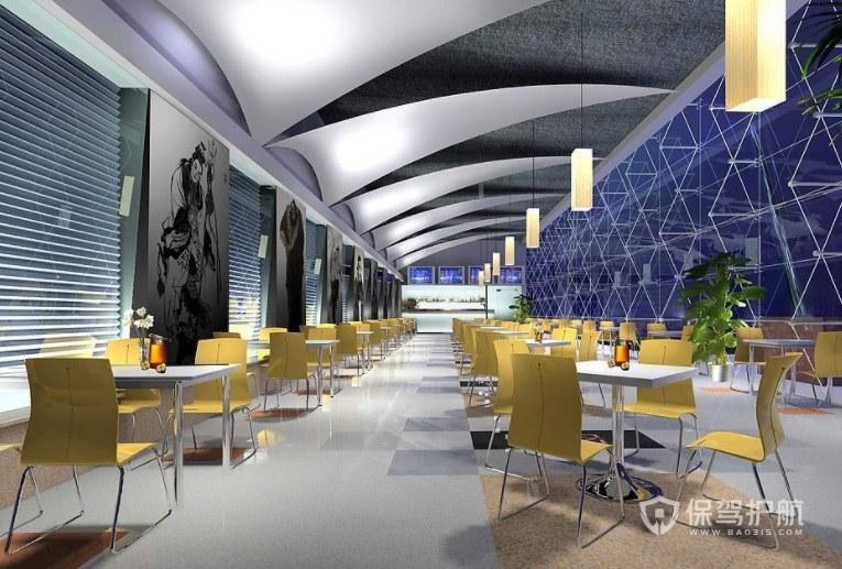美式创意时尚简约餐厅装修效果图