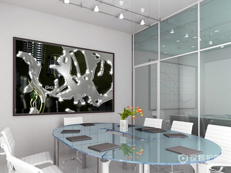 现代办公会议室装修效果图