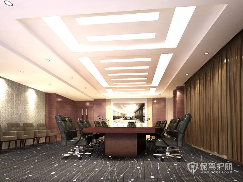 大型办公会议室吊顶装修效果图
