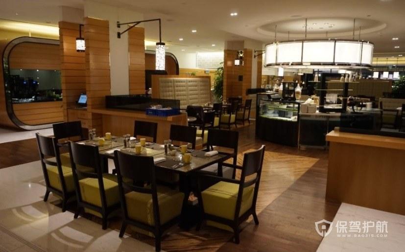 原木创意西餐厅装修效果图