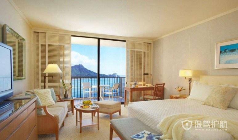 法式简约酒店海景房装修效果图