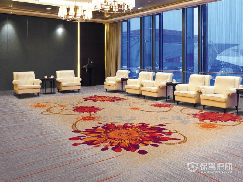 中式风格办公接待室装修效果图