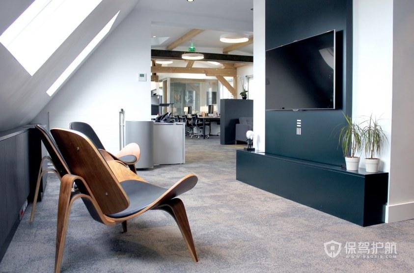 簡約閣樓辦公室休息區裝修效果圖