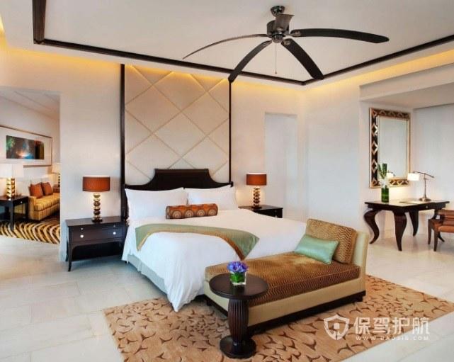 复古美式风酒店房间装修效果图