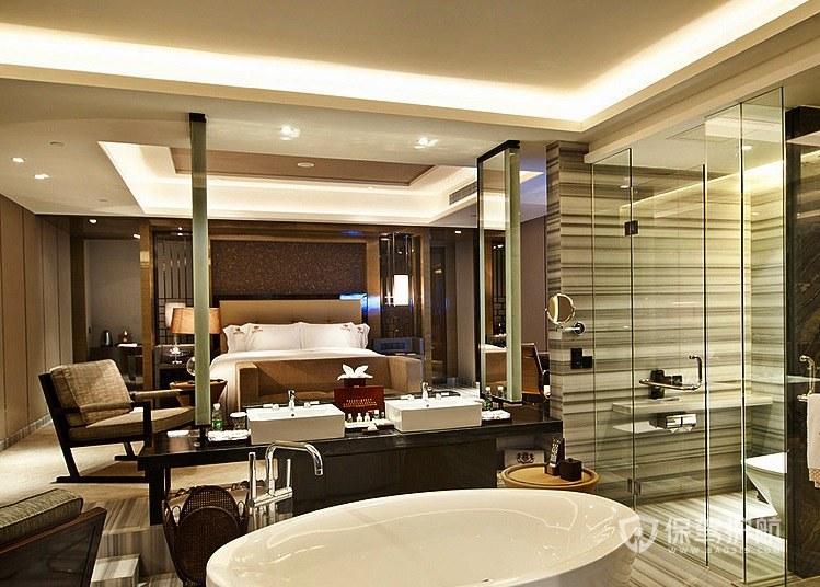 現代美式輕奢酒店房間裝修效果圖
