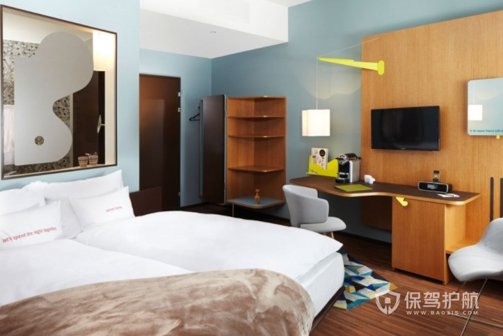 簡約小清新酒店房間裝修效果圖