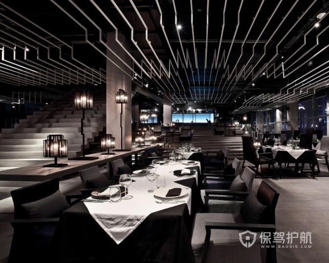 意大利复古高级餐厅装修效果图