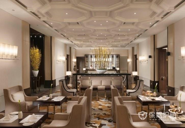 法式豪华典雅西餐厅装修效果图