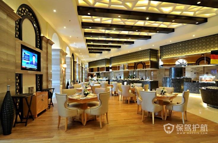 美式简约西餐厅装修效果图