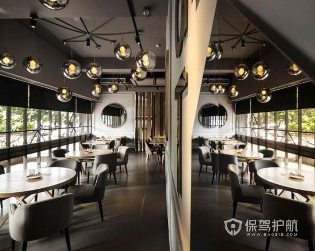 北欧复古风西餐厅装修效果图