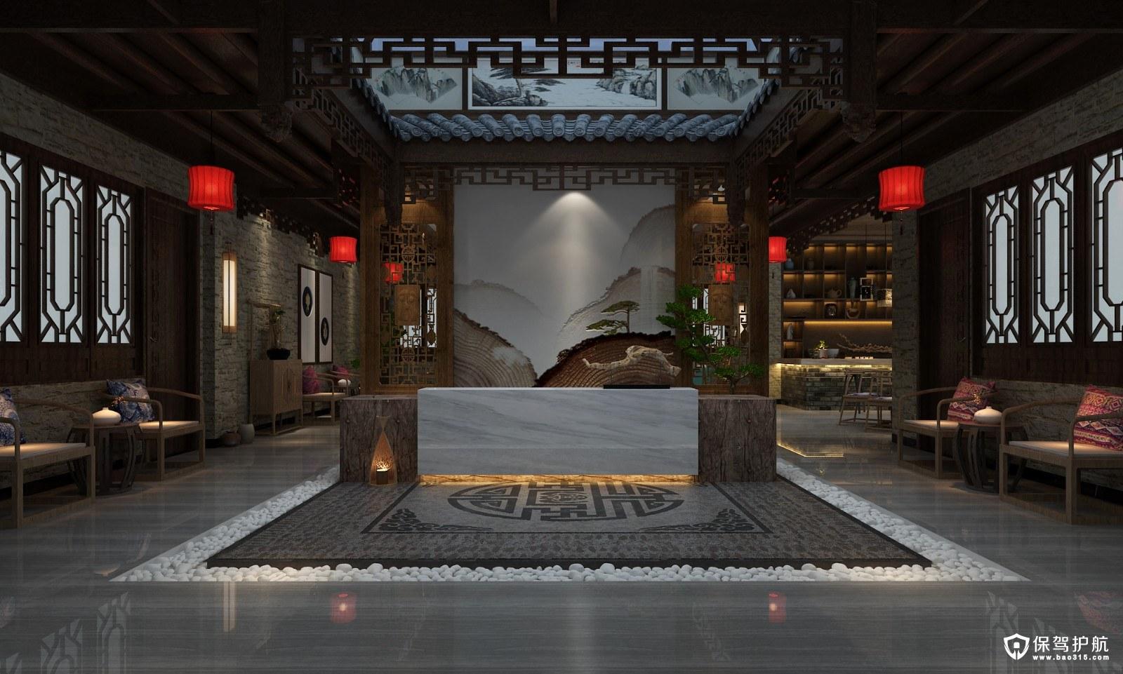 黄瑶古镇中式风格办公室装修效果图