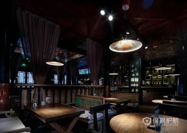 中式復古風酒吧裝修效果圖