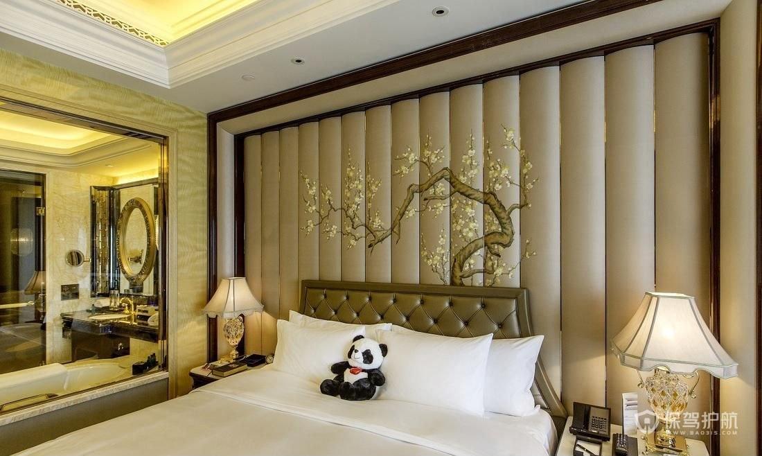 五星級歐式酒店客房裝修效果圖-保駕護航裝修網