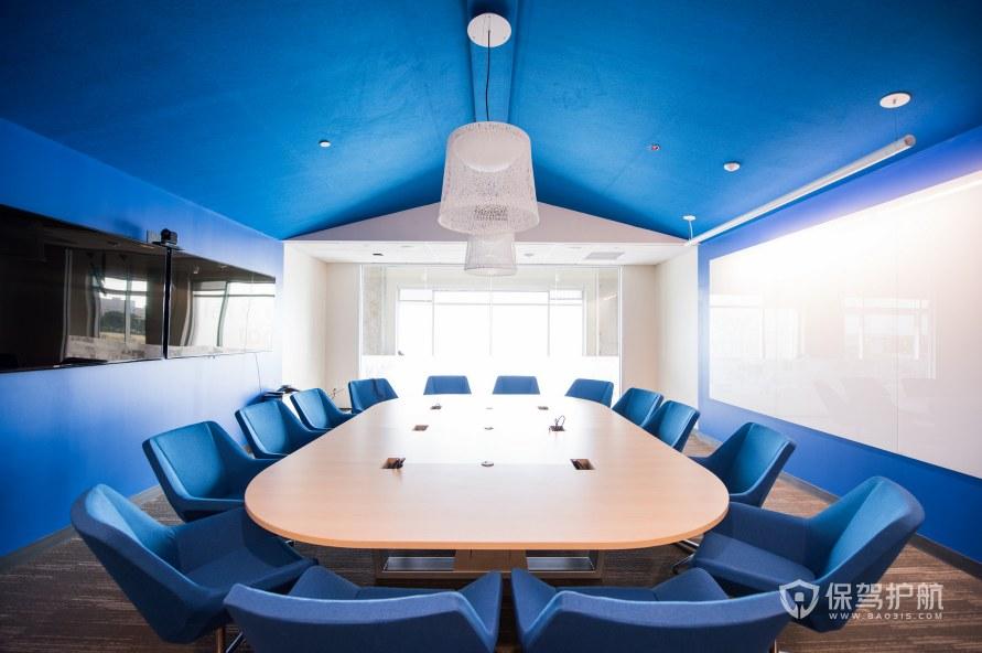地中海风格办公会议室装修效果图