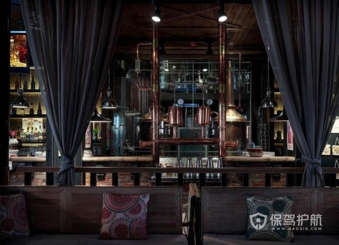 英式復古風酒吧吧臺裝修效果圖