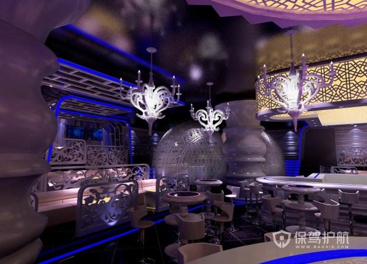 北美创意豪华酒吧装修效果图