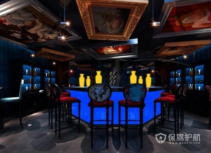欧式复古文艺风酒吧装修效果图
