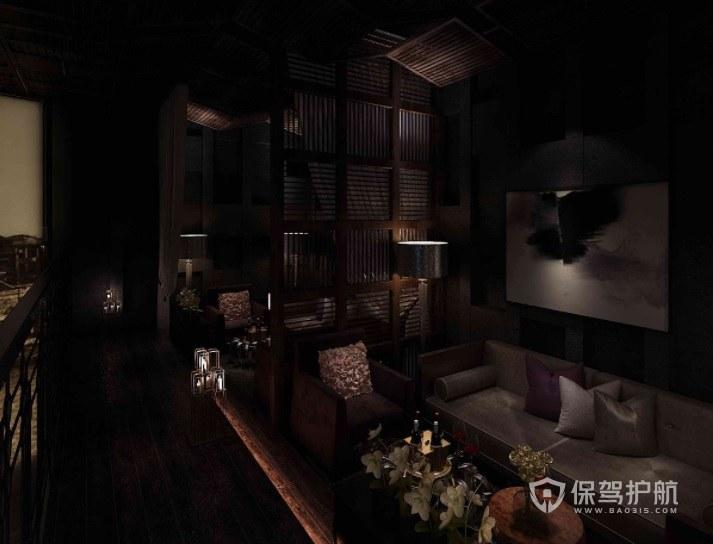 日式复古风酒吧包厢装修效果图