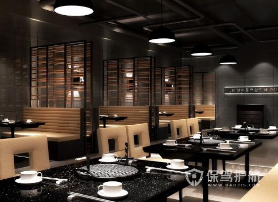 现代韩式风格饭馆桌椅设计效果图