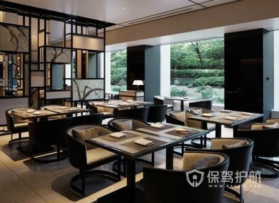 现代风格饭馆整体布局效果图