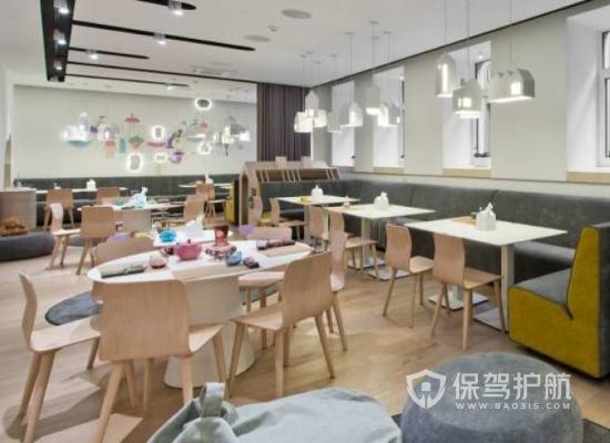 现代简约风格饭馆桌椅设计效果图