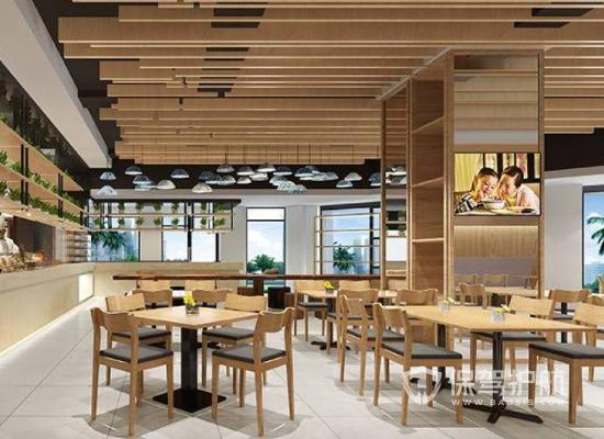 日式风格饭馆吊顶装修效果图