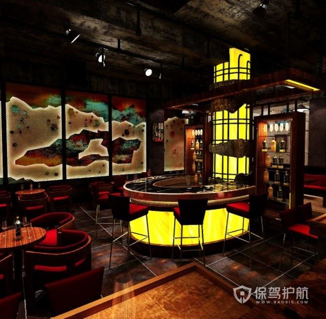 欧式轻奢文艺风酒吧装修效果图
