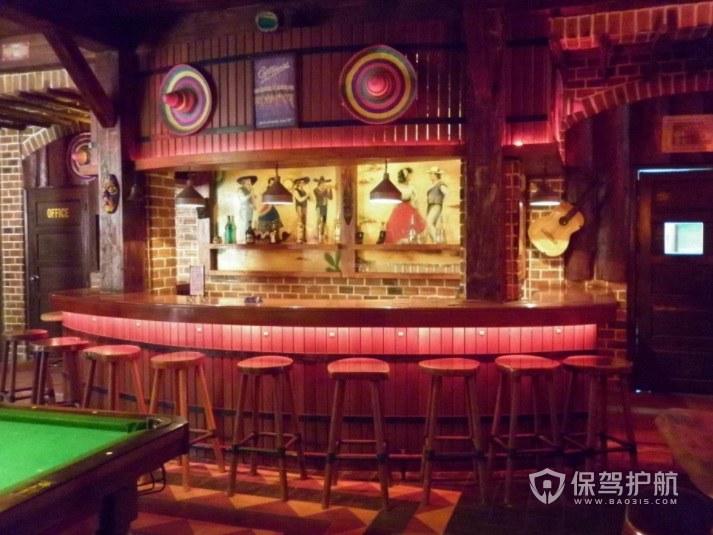 北美文艺复古风酒吧前台装修效果图