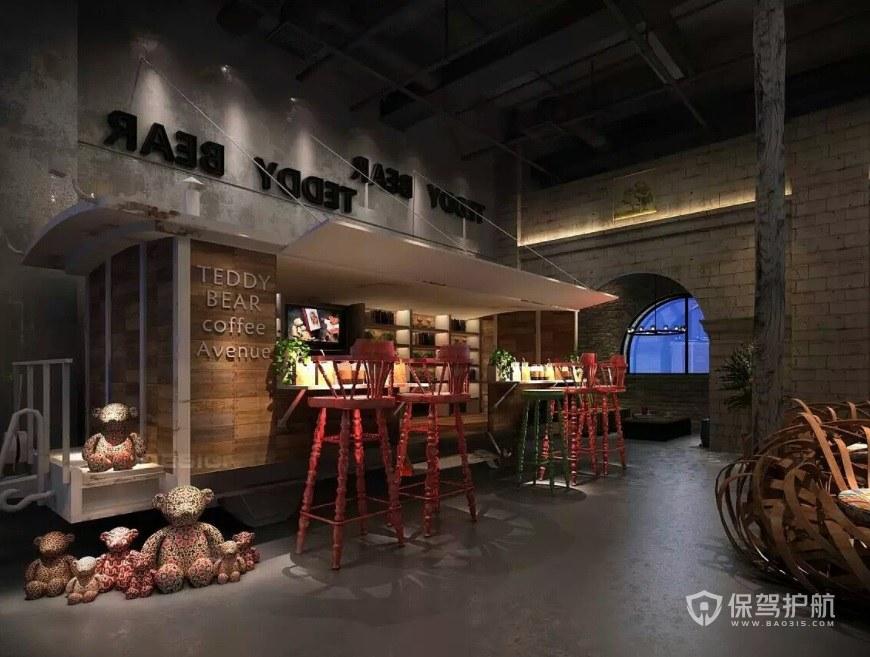 西式鄉村創意小酒吧裝修效果圖