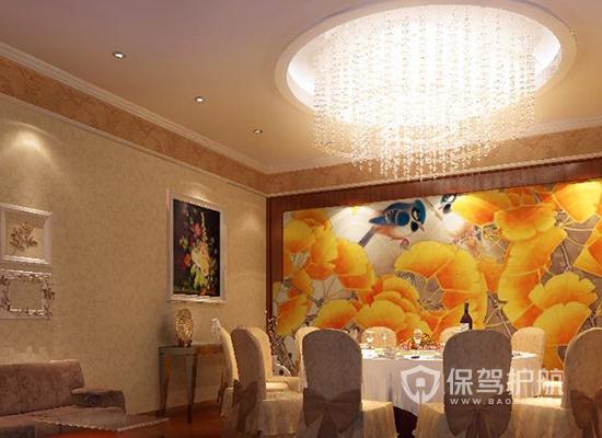 现代中式风格餐厅墙面设计效果图