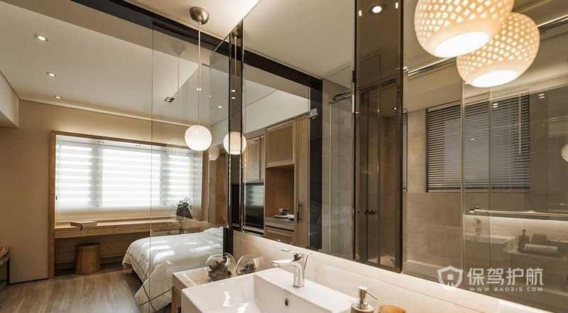 宾馆玻璃卫生间隔断有什么优势?宾馆玻璃卫生间效果图