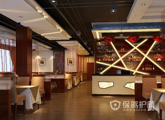 现代中式风格餐厅收银台装修效果图