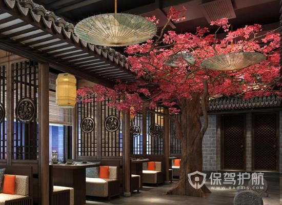 复古中式风格餐厅吊顶装修效果图