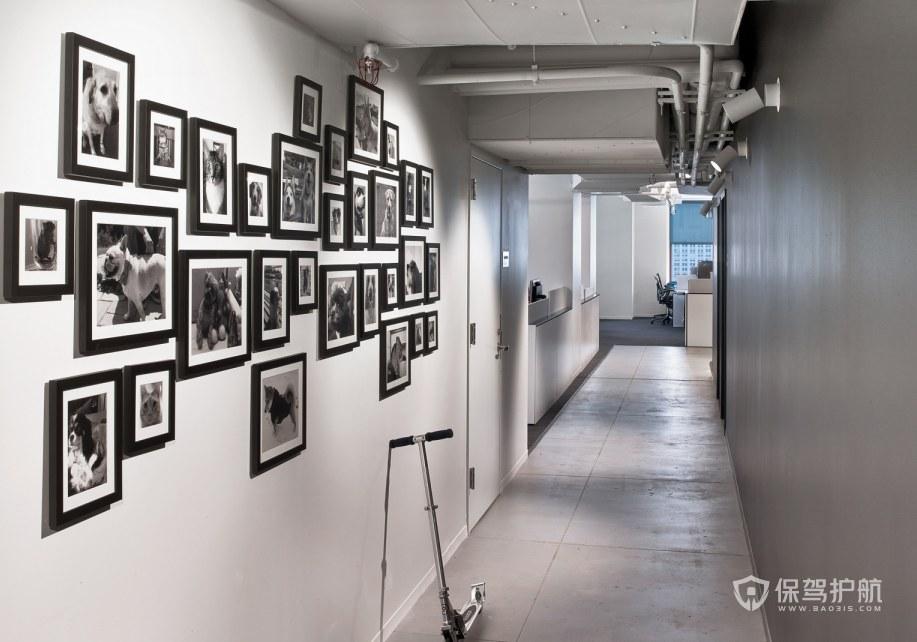 简欧风办公室走廊装修效果图