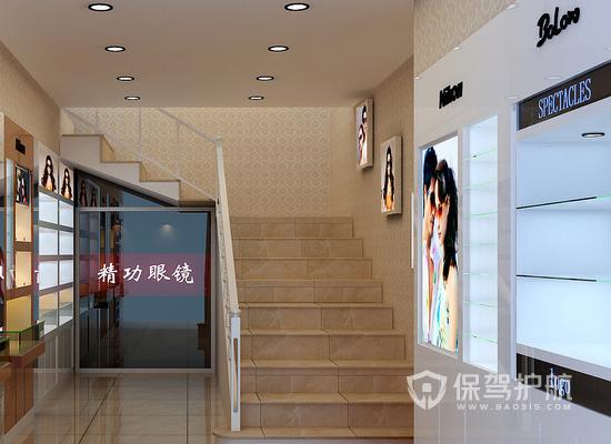 现代简约风格眼镜店楼梯装修效果图