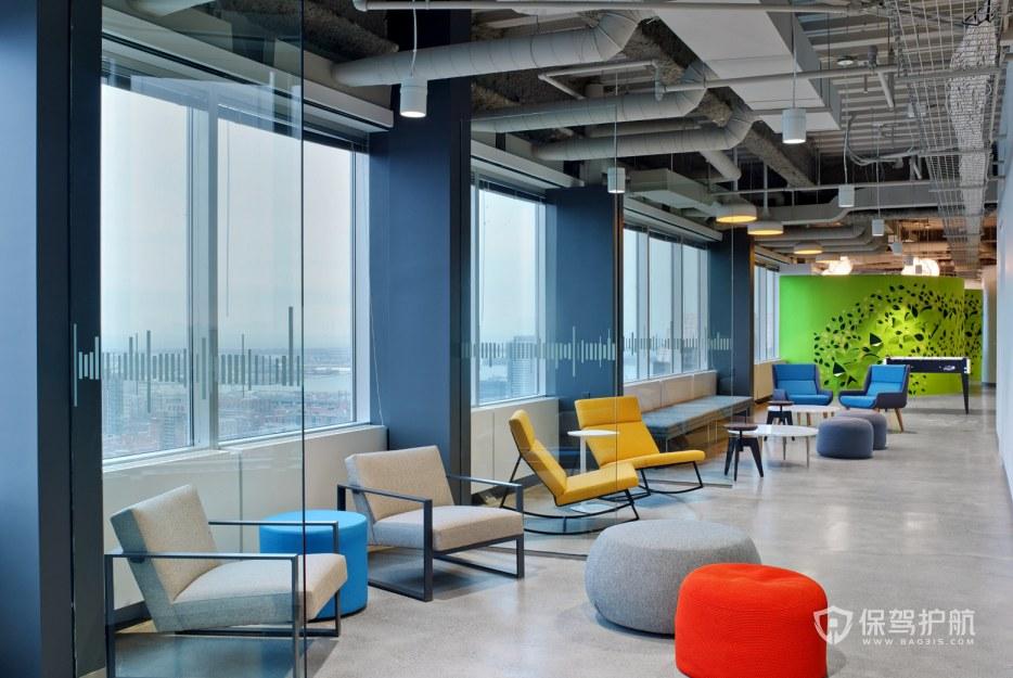 现代科技风格办公室接待区装修效果图