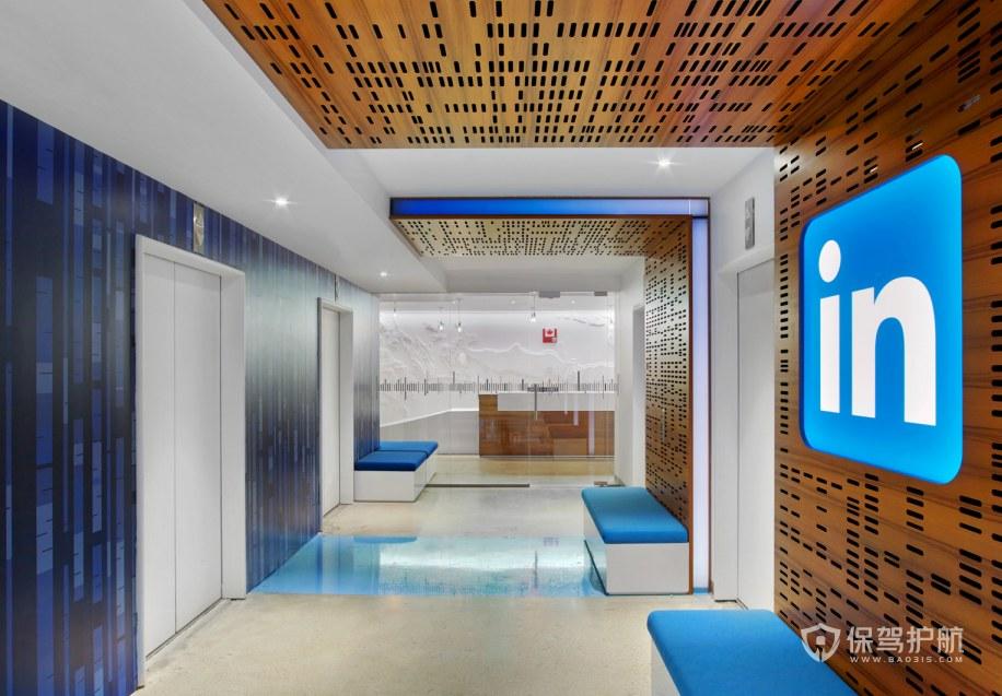 现代科技风格办公室门厅装修效果图