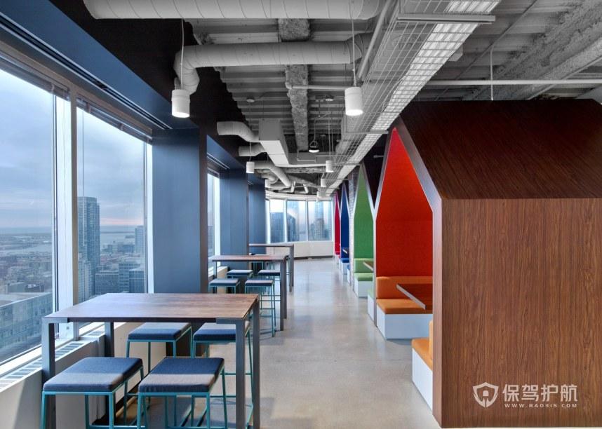 混搭风格办公室接待区装修效果图