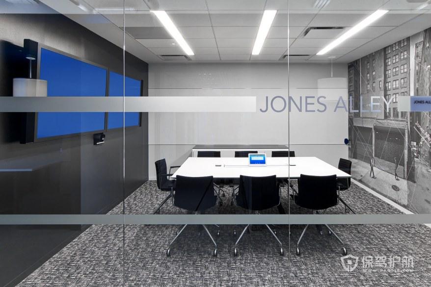 科技风格办公会议室装修效果图