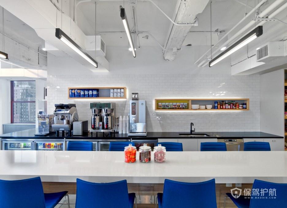 现代简约办公室茶水就餐区装修效果图