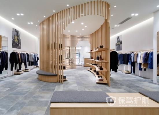 日式风格90平米服装店整体设计效果图…